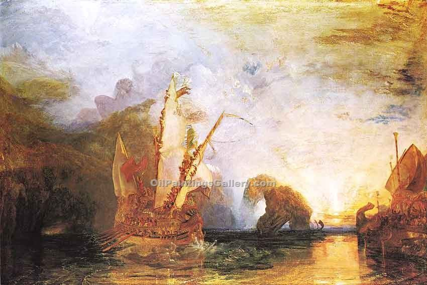 """lysses Deriding Polyphemus Homers Odyssey"" by  William Turner"
