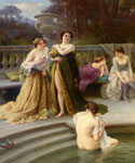 A Midday Bath by  Jules Scalbert (Painting ID: ED-0671-KA)