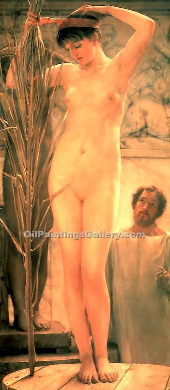"""A Sculptur s Model"" by  Sir Lawrence Alma Tadema"