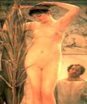 A Sculptur s Model by  Sir Lawrence Alma Tadema (Painting ID: EI-1278-KA)