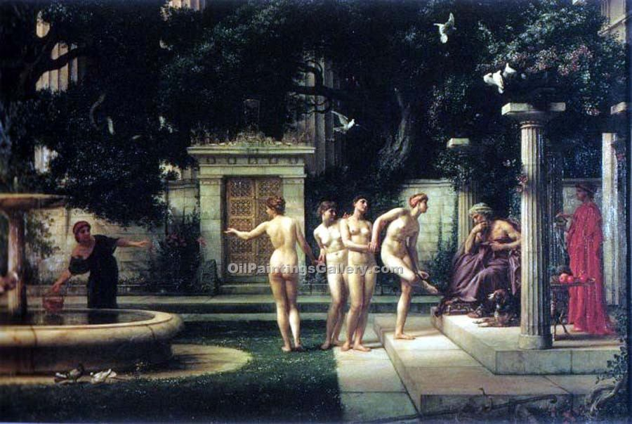 """A Visit to Aesclepius"" by  Sir Edward John Poynter"