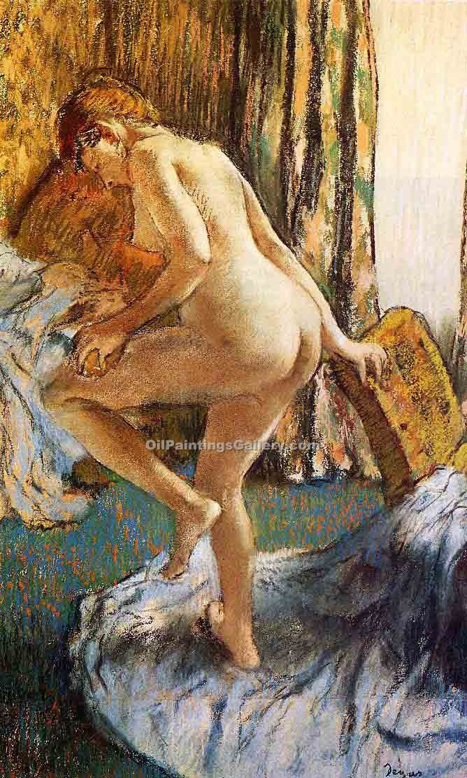 """After the Bath 2"" by  Edgar Degas"