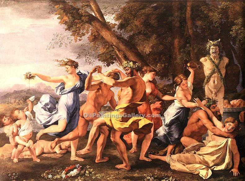 """Bacchanal before a Statue of Pan"" by  Nicolas Poussin"