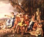 Bacchanal before a Statue of Pan by  Nicolas Poussin (Painting ID: CM-1459-KA)