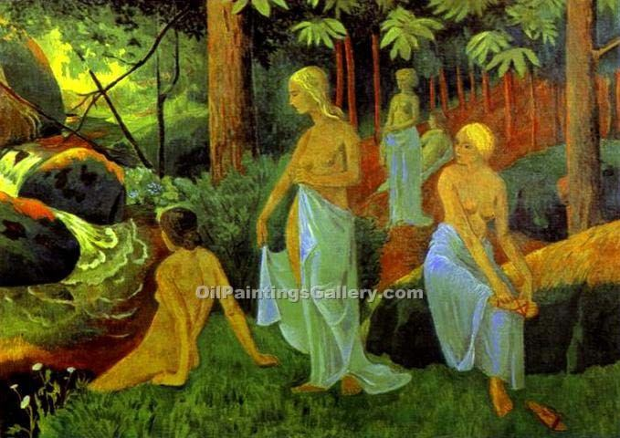 """Bathers with White Veils"" by  Paul Serusier"