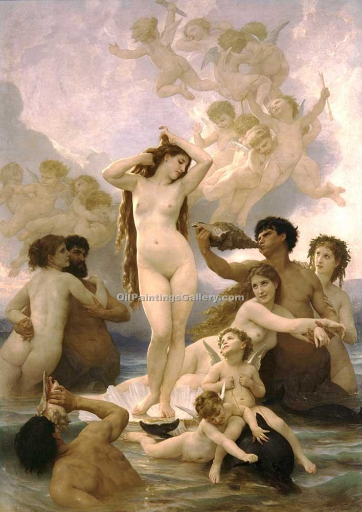 """Birth of Venus 11"" by  Adolphe Bouguereau"