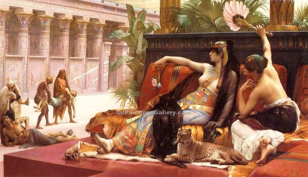 """Cleopatra Testing Poisons on Prisoners"" by  Alexandre Cabanel"