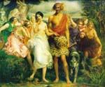 Cymon and Iphigenia 01 by  John Everett Millais (Painting ID: CM-0701-KA)