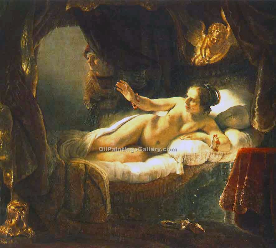 Danae 92 by Rembrandt Harmenszoonvan VanRijn | Modern Art Gallery Online - Oil Paintings Gallery