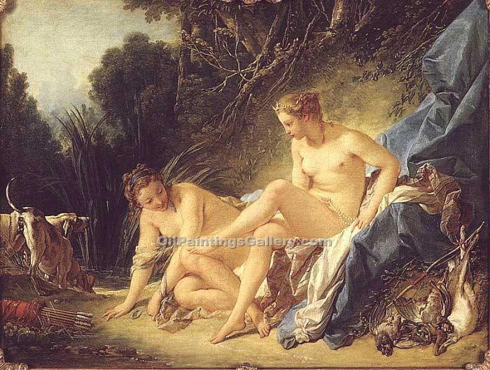 """Diana Resting after her Bath"" by  Francois Boucher"