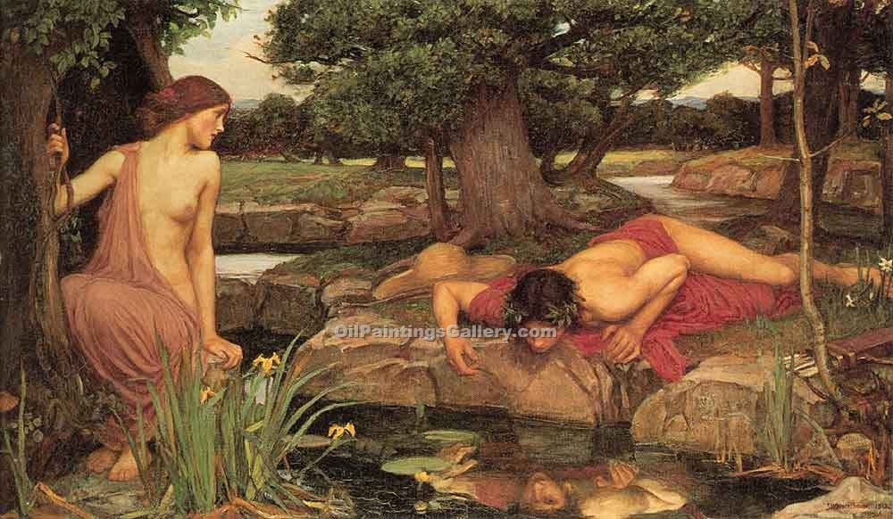 """Echo and Narcissus 86"" by  John William Waterhouse"