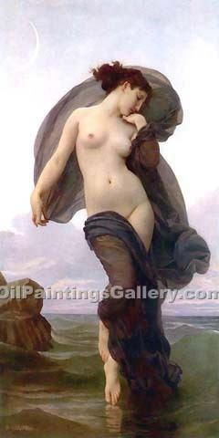 """Evening Mood"" by  Adolphe Bouguereau"