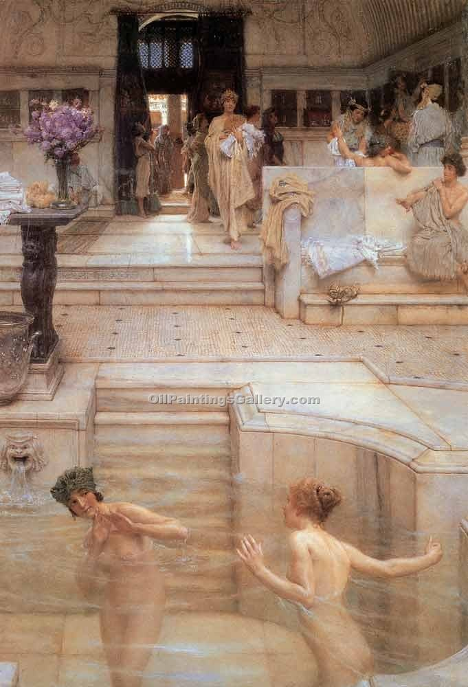 """Favorite Custom"" by  Sir Lawrence Alma Tadema"
