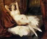 Female Nude by  Eugene Delacroix (Painting ID: DA-6956-KA)