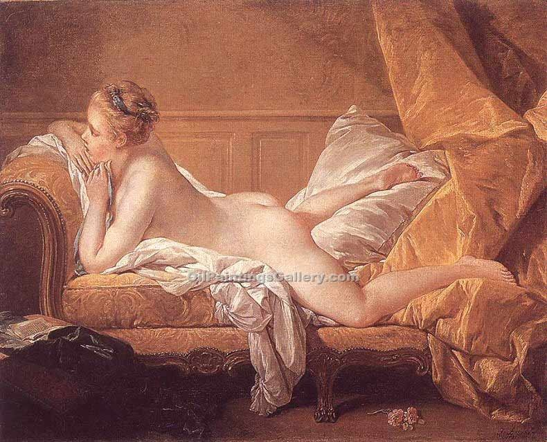 """Girl Reclining"" by  Francois Boucher"