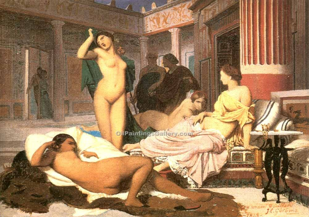 """Greek Interior Sketch"" by  Jean Leon Gerome"