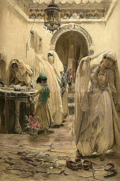 """Harem Fountain"" by  Frederick Arthur Bridgman"