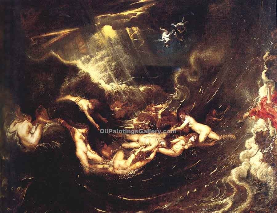 """Hero and Leander 90"" by  Peter Paul Rubens"