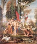 Heroid and the Muses by  Gustave Moreau (Painting ID: CM-2102-KA)