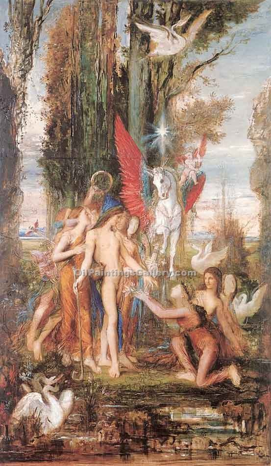 Heroid and the Muses by Moreau Gustave | Handmade Oil Paintings - Oil Paintings Gallery