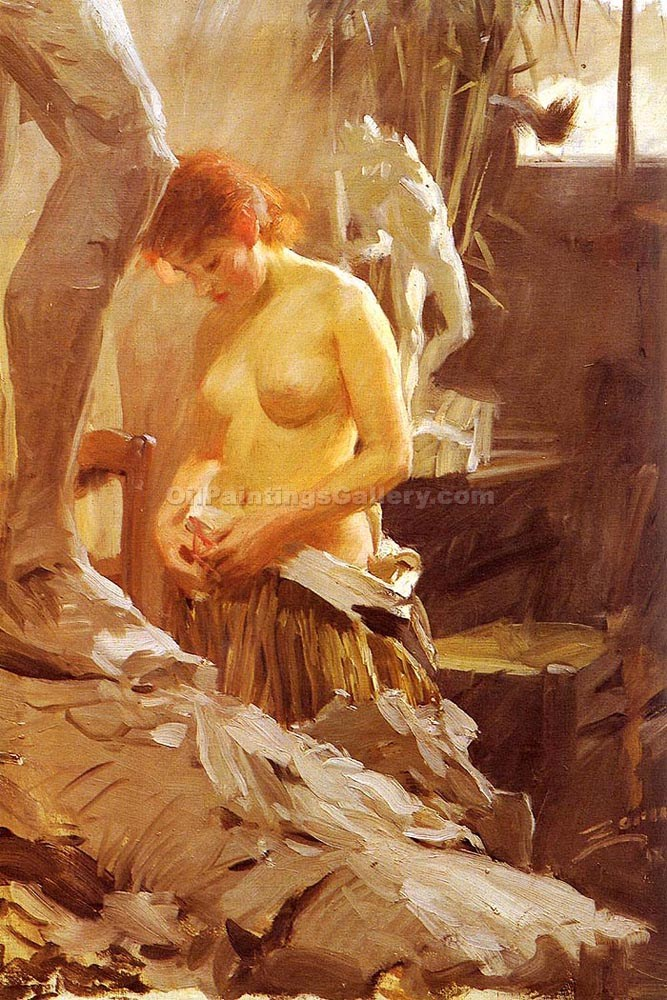 """In The Studio Wikstroms"" by  Anders Zorn"