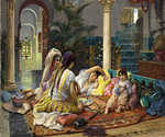In the Harem 54 by  Frederick Arthur Bridgman (Painting ID: ER-0054-KA)