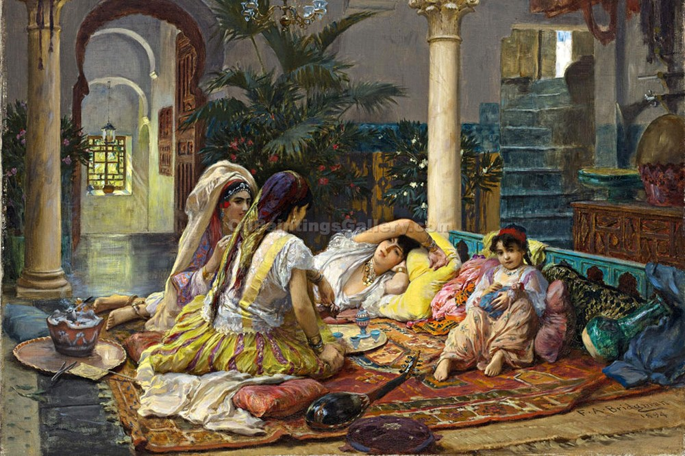 """In the Harem 54"" by  Frederick Arthur Bridgman"
