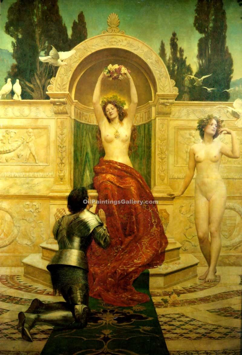 """In the Venusberg Tannhauser"" by  John Collier"