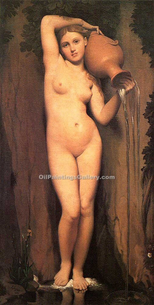 La Source by Jean Auguste Ingres | Abstract Landscape Paintings - Oil Paintings Gallery