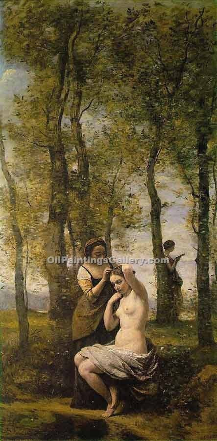 Le Toilette aka Landscape by Jean BaptisteCorot | Painting Artists - Oil Paintings Gallery
