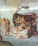 Noah the Flood Right View by  Buonarroti Michelangelo (Painting ID: DA-2123-KA)