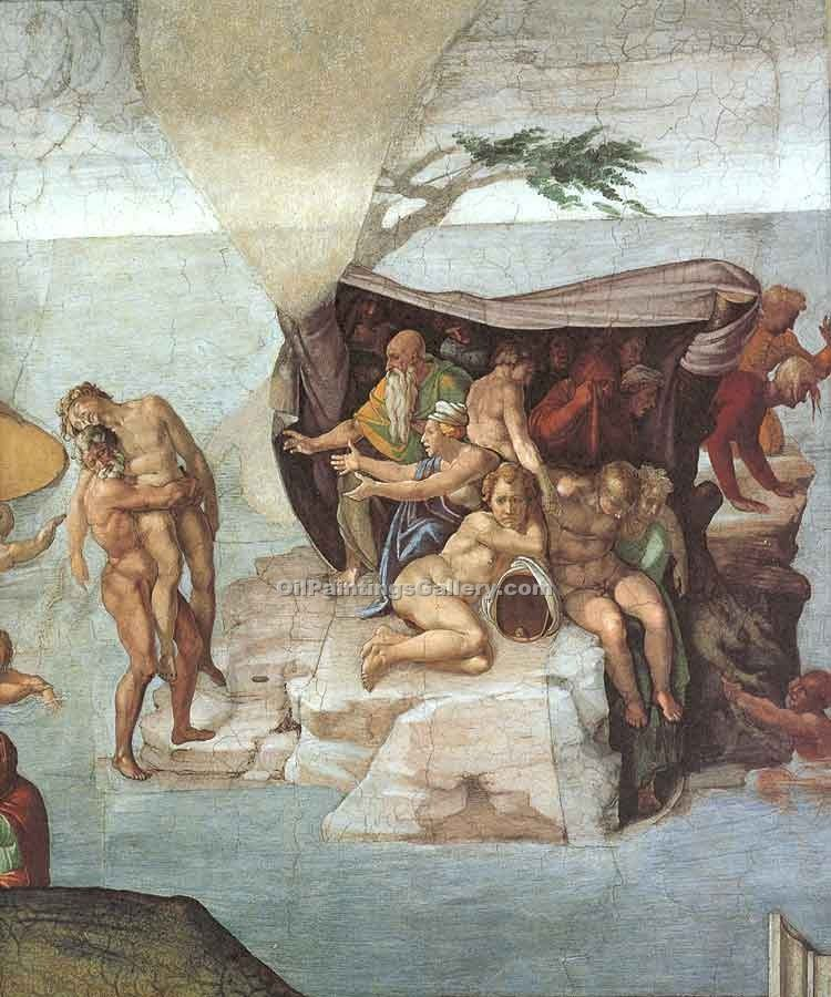 """Noah the Flood Right View"" by  Buonarroti Michelangelo"