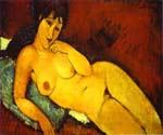 Nude on a Blue Cushion by  Amedeo Modigliani (Painting ID: EI-2006-KA)