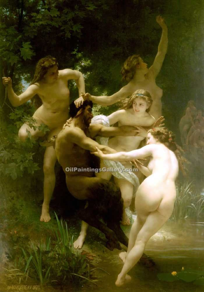 """Nymph and Satyr 05"" by  Adolphe Bouguereau"