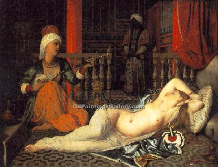 """Odalisque with a Slave"" by  Jean Auguste Ingres"