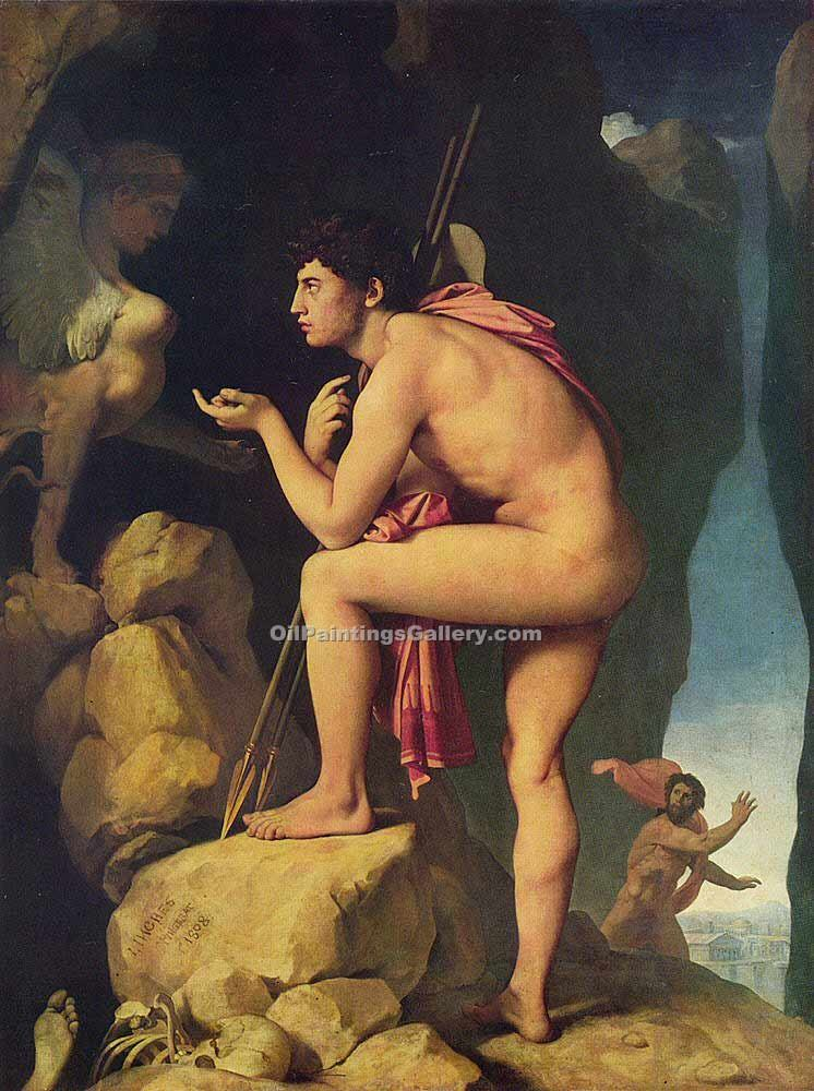 """Oedipus and the Sphinx 14"" by  Jean Auguste Ingres"