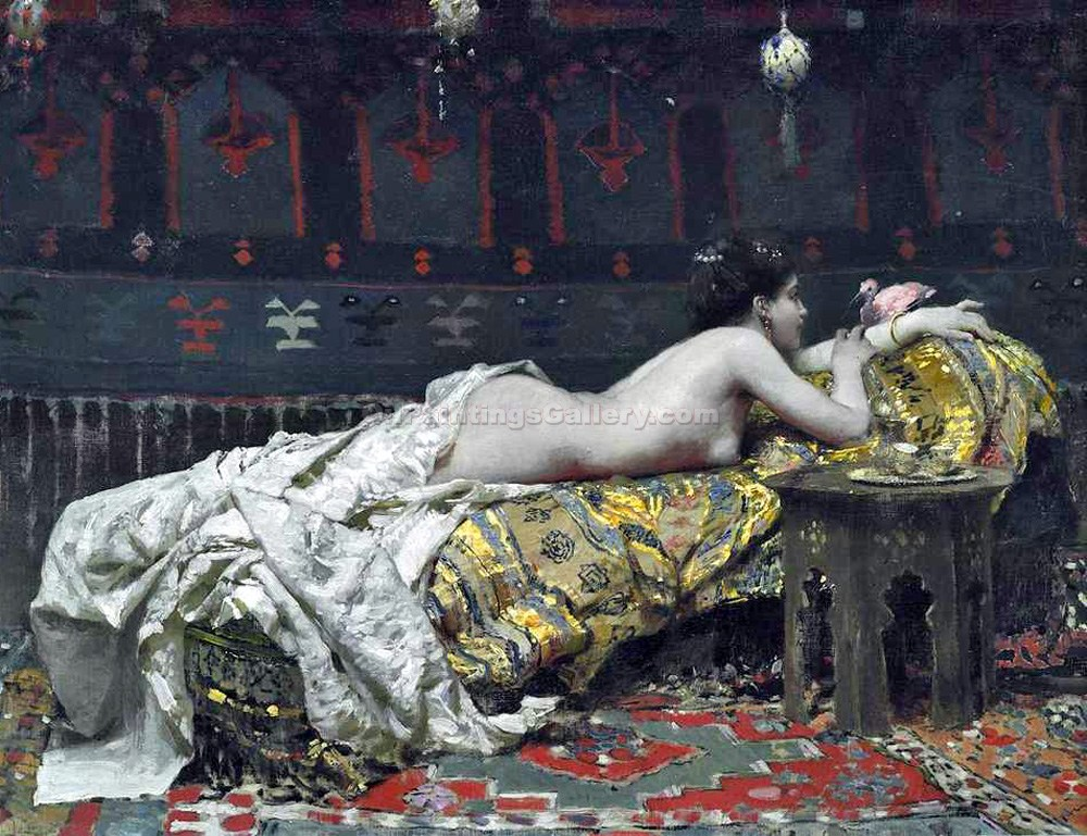 """Oriental Girl"" by  Ippolito Caffi"