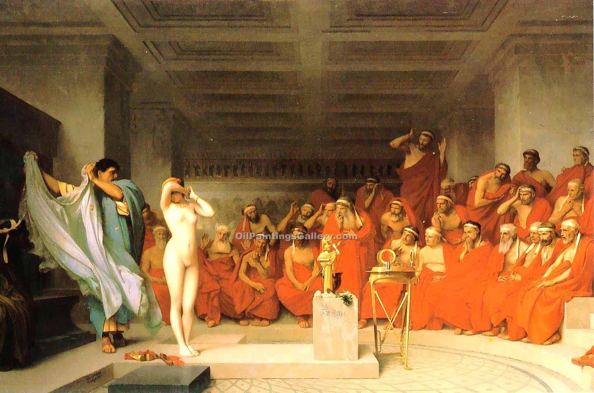 """Phryne before the Areopagus"" by  Jean Leon Gerome"