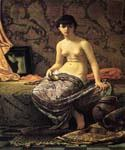 Roman Model Posing by  Elihu Vedder (Painting ID: CL-0818-KA)