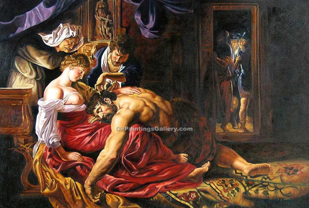 """Samson and Delilah"" by  Peter Paul Rubens"