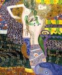 Sea Serpents 25 by  Gustav Klimt (Painting ID: EI-1825-KA)