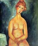 Seated Nude 12 by  Amedeo Modigliani (Painting ID: EI-2012-KA)
