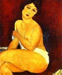 Seated Nude on Divan by  Amedeo Modigliani (Painting ID: EI-2004-KA)