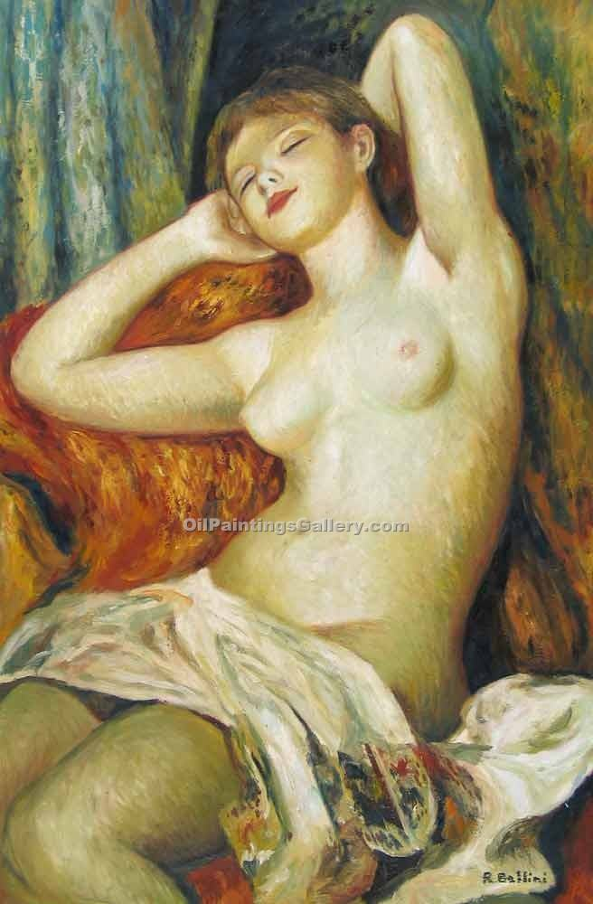 """Sleeping Bather"" by  Pierre Auguste Renoir"