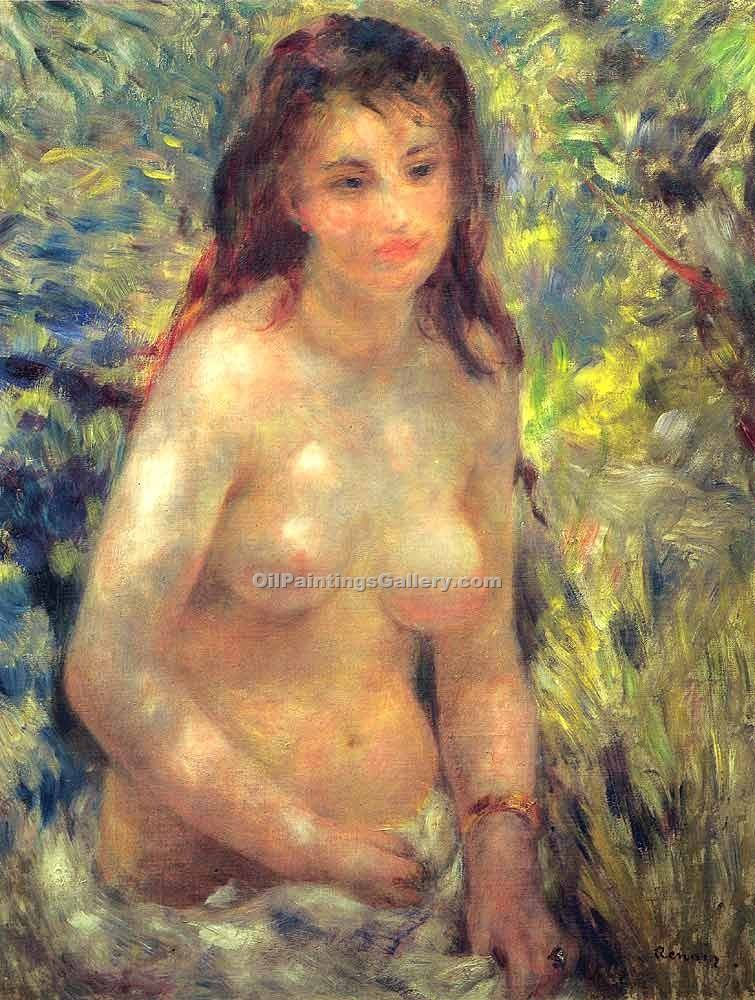 """Study Torso Sunlight Effect"" by  Pierre Auguste Renoir"