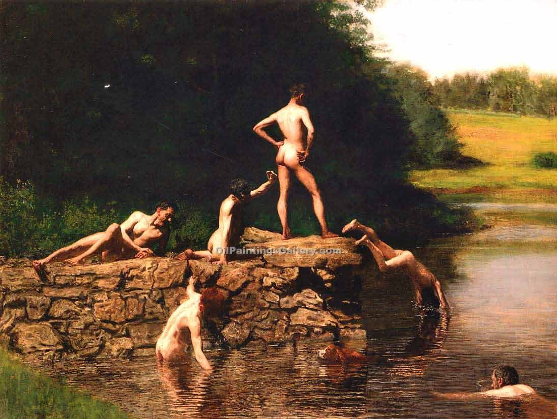 """Swimming"" by  Thomas Eakins"