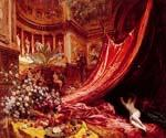 Symphony in Red and Gold Paris by  Jean Beraud (Painting ID: EI-0866-KA)