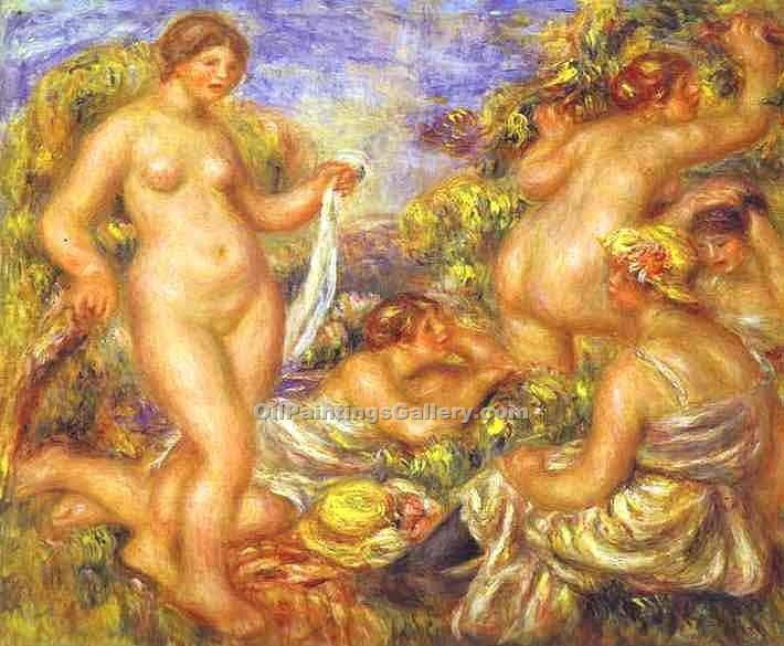"""The Bathers 86"" by  Pierre Auguste Renoir"