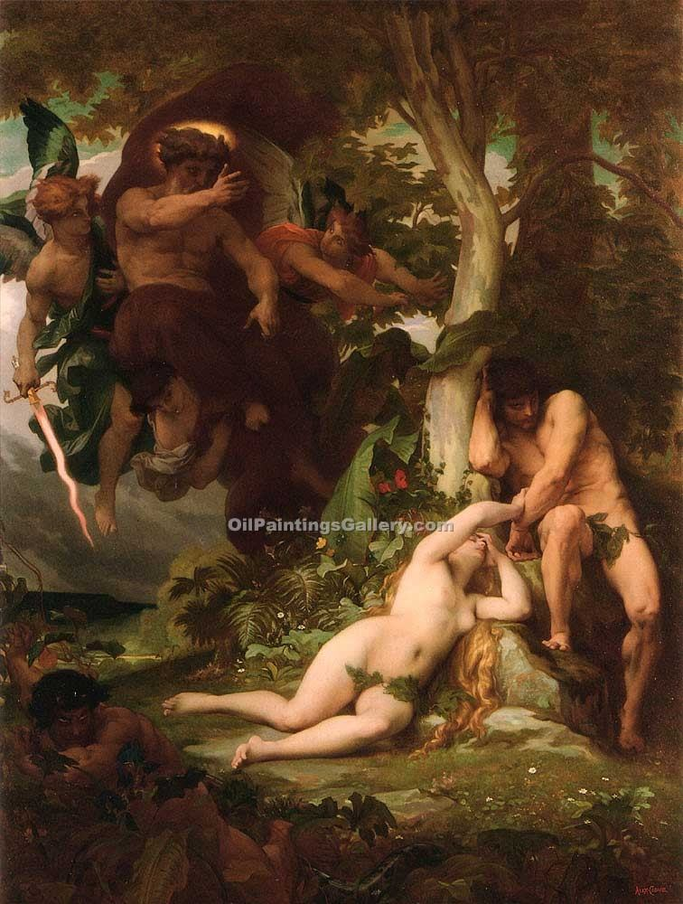 """The Expulsion of Adam and Eve"" by  Alexandre Cabanel"
