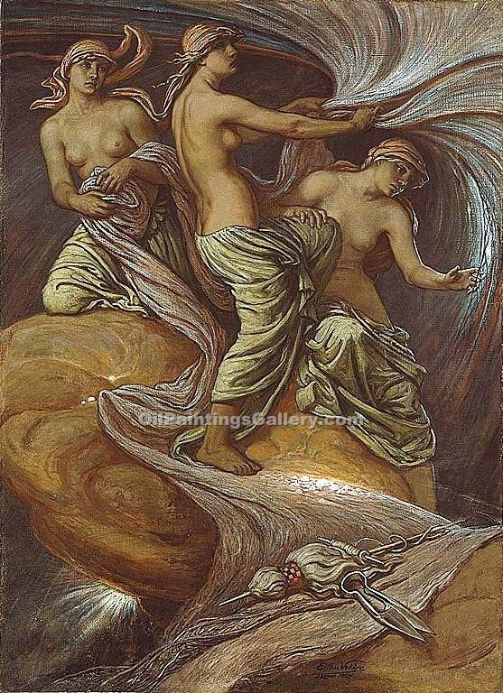 """The Fates Gathering in the Stars"" by  Elihu Vedder"